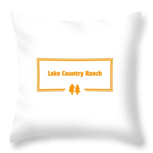 Lake Country Ranch - Throw Pillow