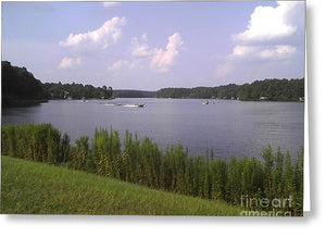 Lake Greenbriar On The Ranch - Greeting Card
