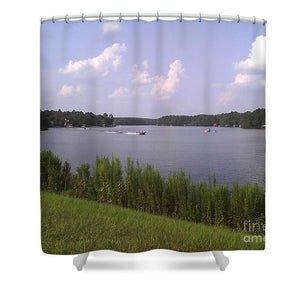 Lake Greenbriar On The Ranch - Shower Curtain