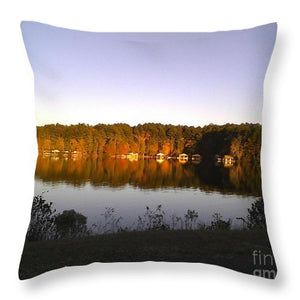 Lake Greenbriar Reflection - Throw Pillow