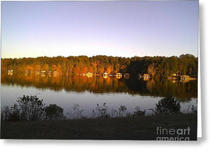 Lake Greenbriar Reflection - Greeting Card