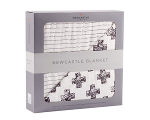 Nordiac Cross and Pencil Stripe Newcastle Blanket