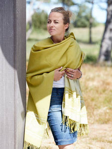 Women's Lime Green Poncho