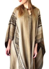 Soft Gold Incan Alpaca Poncho