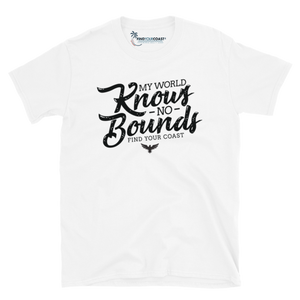 Men's My World Knows No Bounds White Short-Sleeve Unisex T-Shirt