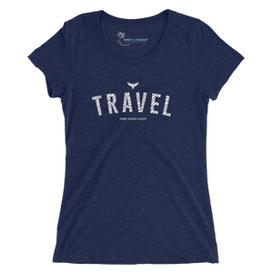 Women's Find Your Coast Travel Triblend Short Sleeve Tee