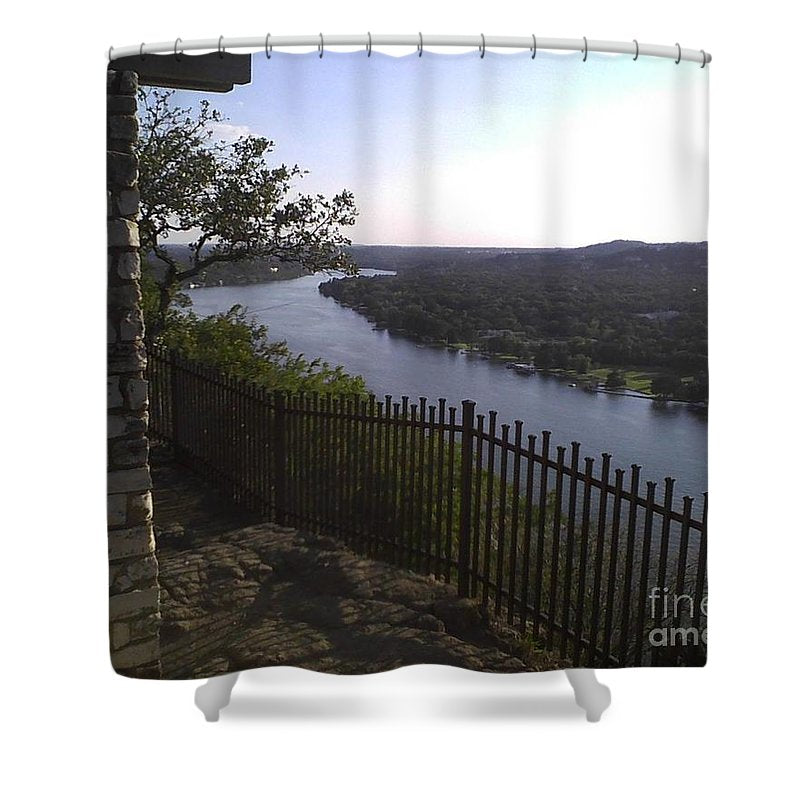 Mt. Bonnell Overlooking Austin - Shower Curtain