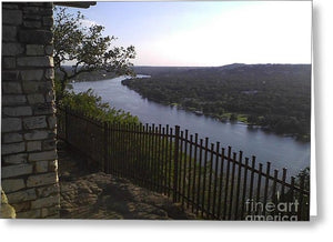 Mt. Bonnell Overlooking Austin - Greeting Card