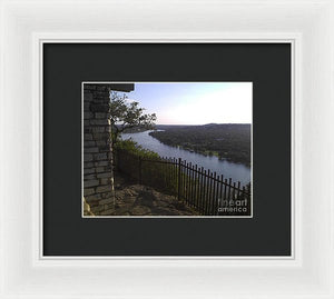 Mt. Bonnell Overlooking Austin - Framed Print