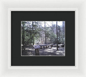 Outdoor Church In The Woods - Framed Print