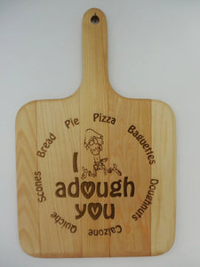 """Bread Lovers"" Basswood Breadboard"