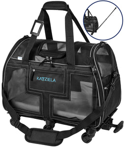 Katziela Airline Approved Pet Carrier With Wheels