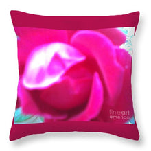 Rose Petals Opening Abstract - Throw Pillow