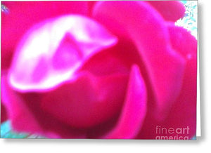 Rose Petals Opening Abstract - Greeting Card