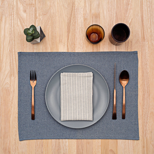 Napkins / Grey Striped: Set of 4
