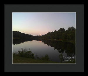The Stillness Of The Night - Framed Print