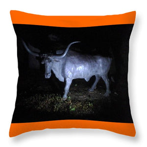 The Texas Longhorn - Throw Pillow