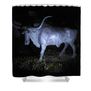 The Texas Longhorn - Shower Curtain