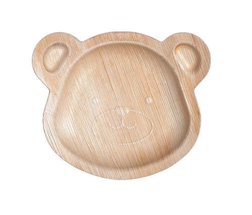 Bear Areca Palm Leaf Plates (Set of 10) - FREE US Shipping