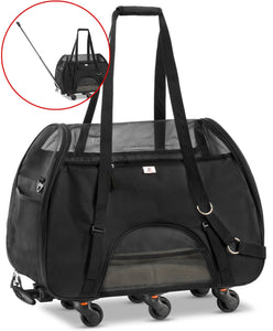 Airline Approved Removable Wheeled Pet Carrier for Small Pets