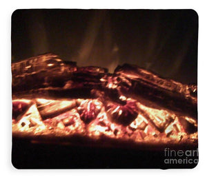 Warm Up  With A Cozy Fire - Blanket