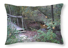 Awesome Waterfall Bridge Crossing - Throw Pillow