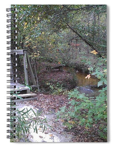 Awesome Waterfall Bridge Crossing - Spiral Notebook