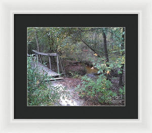 Awesome Waterfall Bridge Crossing - Framed Print