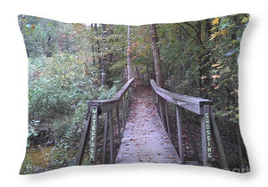 Waterfall Crossing - Throw Pillow