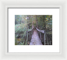 Waterfall Crossing - Framed Print