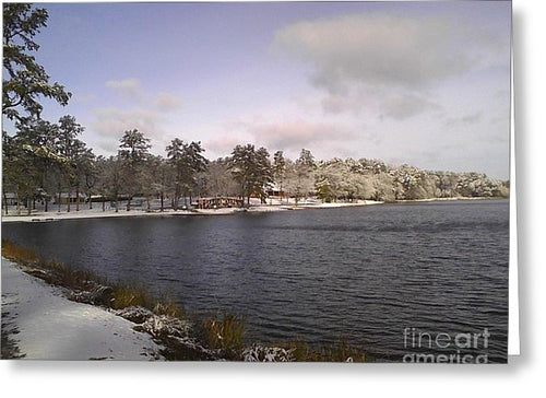 Winter Wonderland At The Lake - Greeting Card (Great Christmas Cards!)