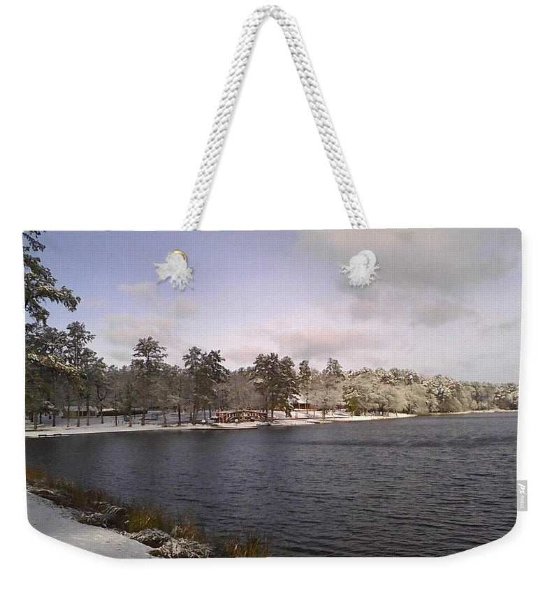 Winter Wonderland At The Lake - Weekender Tote Bag