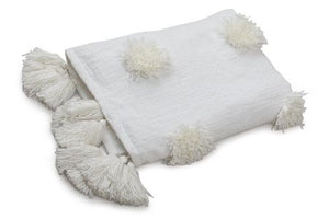Snow Flake Throw, White