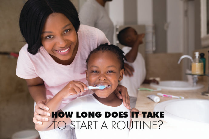 How long does it take to get a child into a routine?