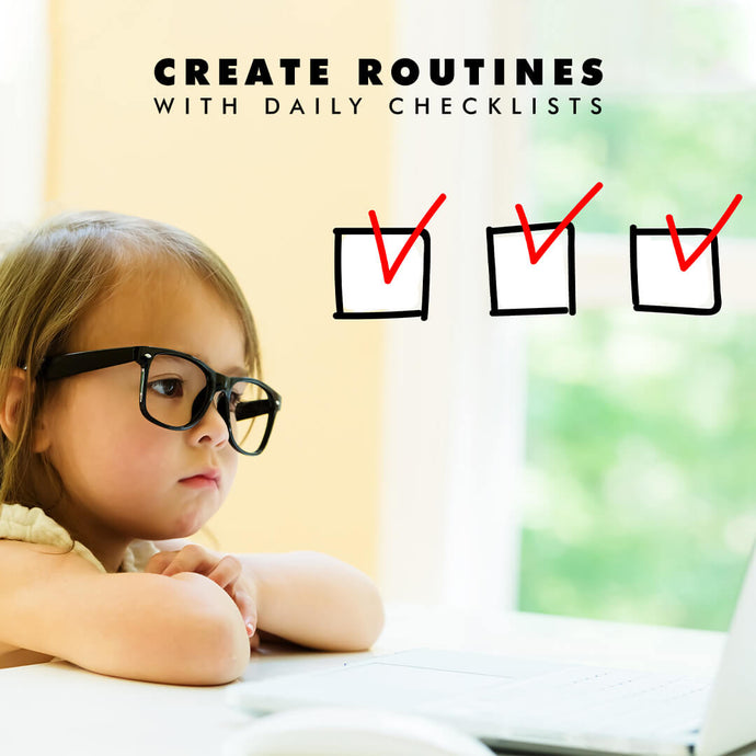 Using daily checklists for a routine