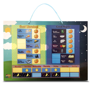 Magnetic Day & Night Responsibility Chart for Kids