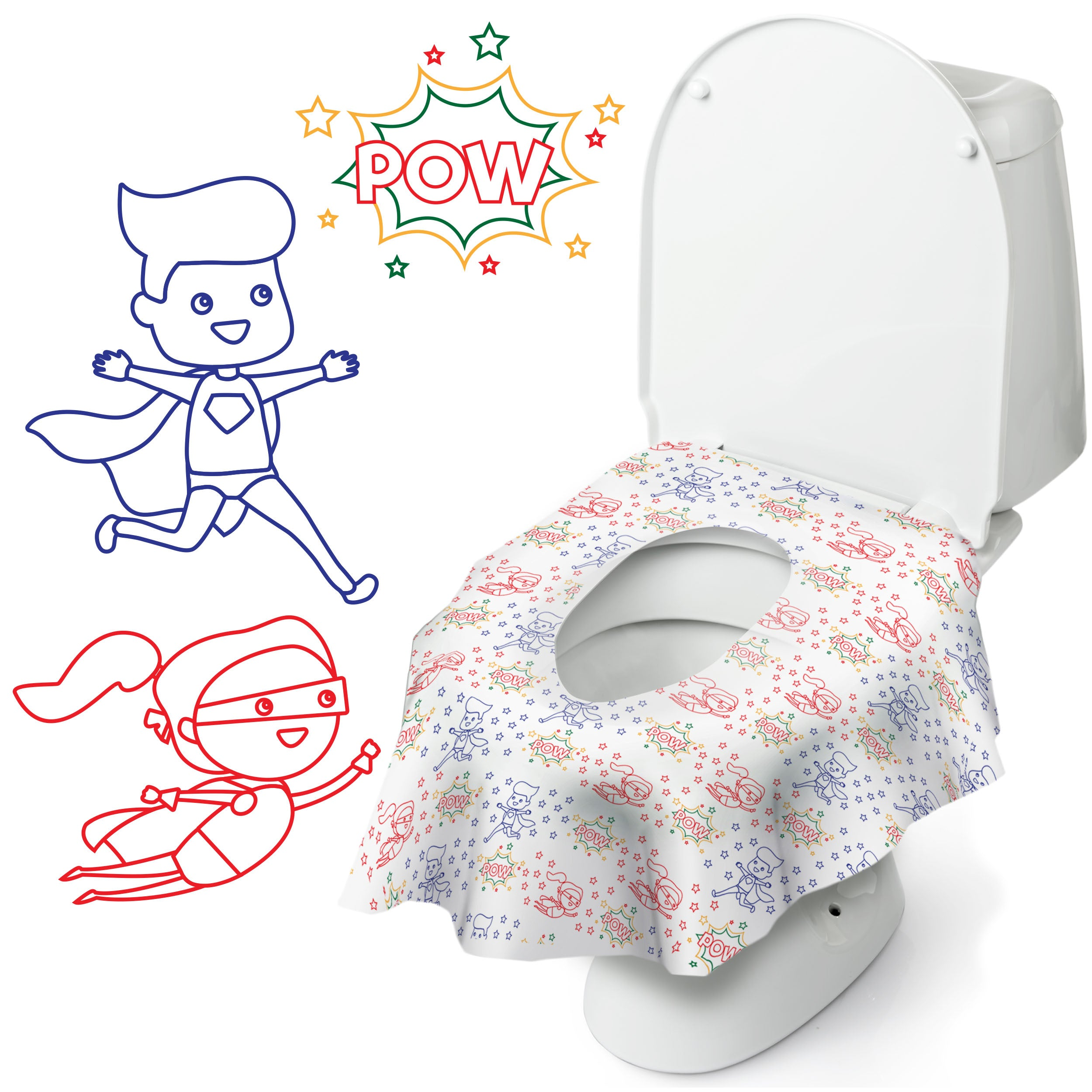 Super Potty Protector: Disposable Toilet Seat Covers