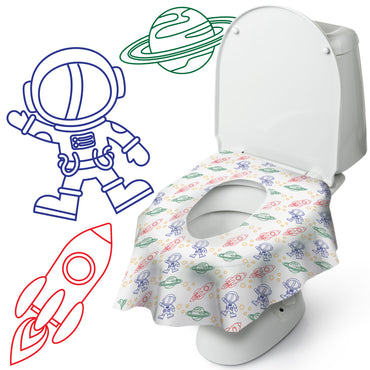 Cosmic Potty Protector: Disposable Toilet Seat Covers
