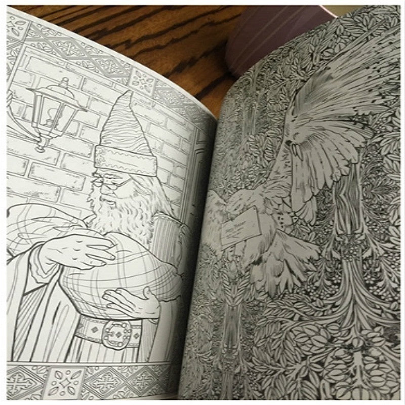 Coloring Book Harry Potter Magical Creatures