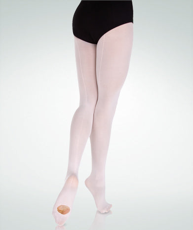 Body Wrappers - Adult - Microfiber Backseam Convertible Tights