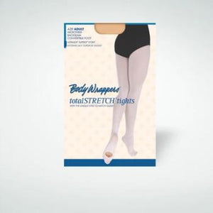 Body Wrappers Adult - Microfiber Backseam Convertible Tights