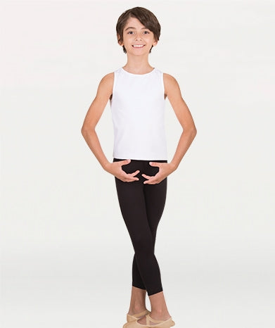 Body Wrappers (B197) Boy's 3/4 Cropped Pant