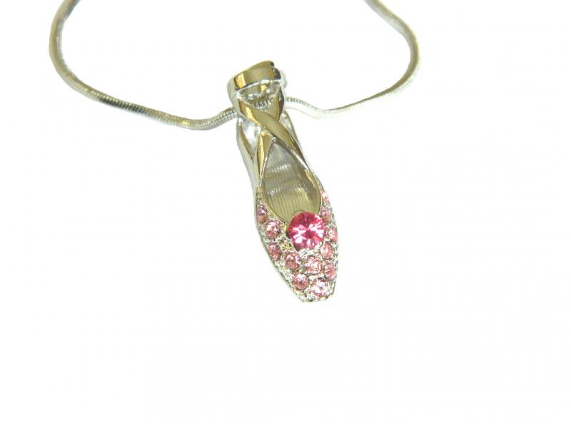 Single Pointe Shoe Necklace