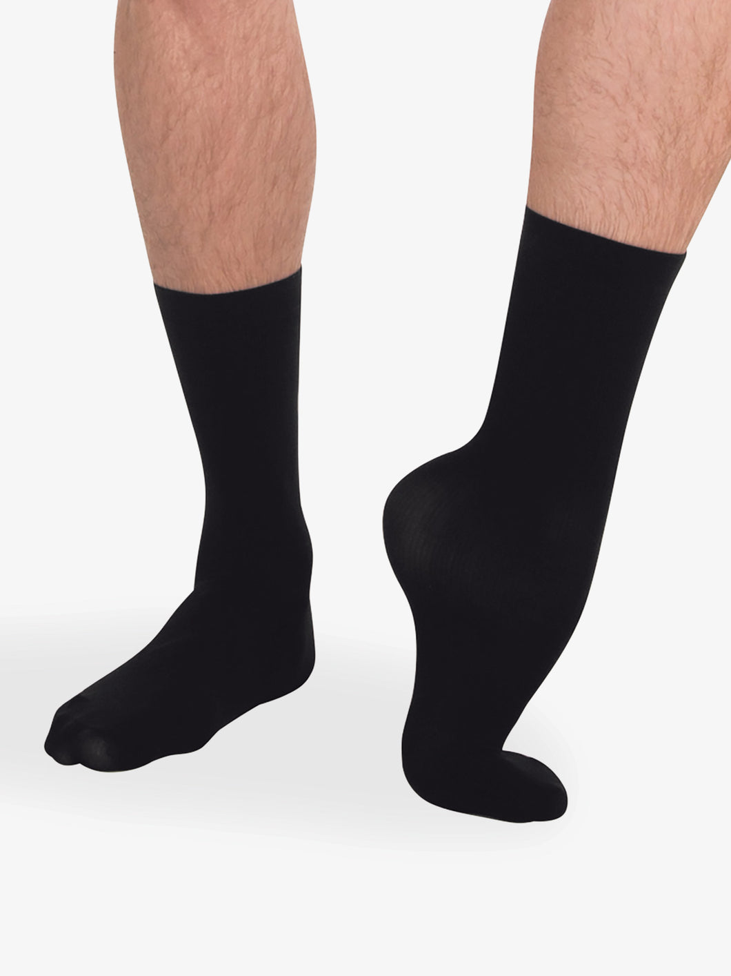 Body Wrappers (M71) Men's Dance Socks (2-Pack)