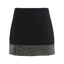 French Connection Crystal Shot Mini Skirt- Black/Silver