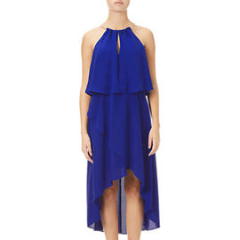 Adrianna Papell Asymmetric Blouson Dress- Bright Cobalt
