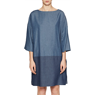 French Connection Ethel Denim Dress- Two-Tone Blue