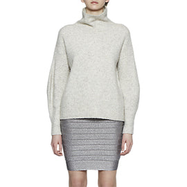 French Connection Rosa Knit Pencil Skirt- Silver