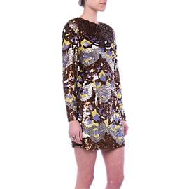French Connection Zelda Sequin Tunic Dress- Arrowood/Multi