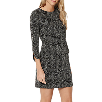 Damsel in a dress Mist Textured Jersey Dress- Ivory/Black